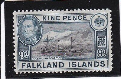 Falkland Islands G6 1938 SG 157 - 9 pence  Lightly Mounted Mint - A460