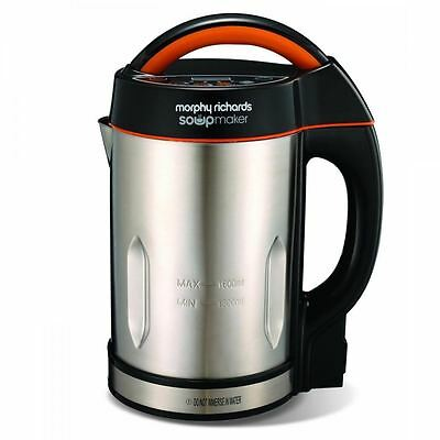Morphy Richards Soup Maker Brushed Stainless Steel Black Electric Machine 48822