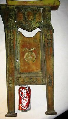 Antique Cast Iron Shriners Knights Templar Sword Movie Theater Plaque Art Panel