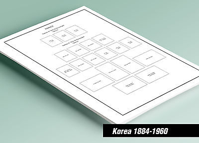 PRINTED KOREA [CLASS.] 1884-1960 STAMP ALBUM  PAGES (33 pages)