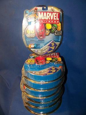 Marvel Universe Mighty Beanz Lot of 7 Still Sealed Packs, Electra, Storm, Thing