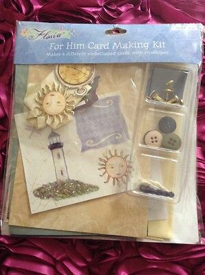 Card making kit / birthday /any occasion male card / makes 4