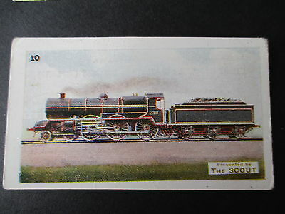 THE SCOUT**RAILWAY ENGINES**1 CARD No10 GREAT SOUTHERN&WESTERN RAILWAY(IRELAND)