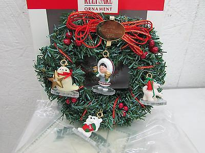 1990 Hallmark Little Frosty Friends Christmas Ornament Set