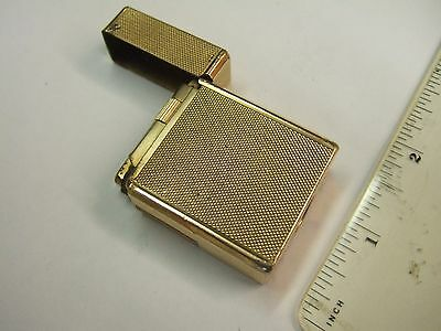 Quality Early S T Dupont Paris Gold Plated Roller Type Lighter