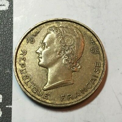 FRENCH WEST AFRICA 1956 5 Franc coin extra fine