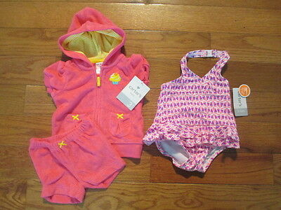 3 piece LOT of Baby Girl swimwear size 3 months NWT