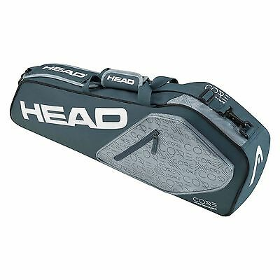 Head Core Pro Racquet Sports Practice Squash Tennis 3 Racket Bag