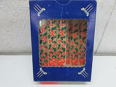 Vintage Christmas Victrylite Paragon Angel Chime Candles Holly Pattern IOB