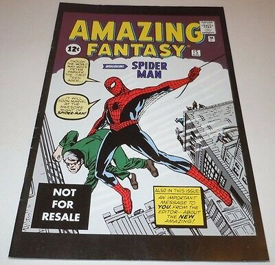 Amazing Fantasy #15 Comic Marvel 1st Appearance Spider-Man Legends REPRINT First