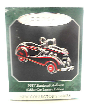 Hallmark 1937 Steelcraft Auburn Kiddie Car Luxury Edition Keepsake Ornament 1998
