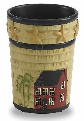 Home Place Tumbler by Park Designs, Hand Painted, Saltbox House, Willow Tree