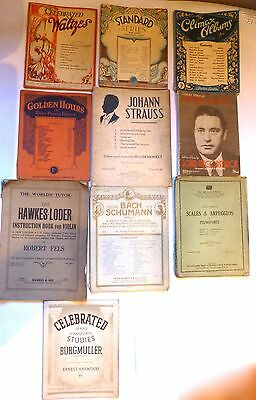 A lot of 10 Vintage Sheet Music Song Books