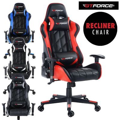 Gtforce Pro Gt Reclining Sports Racing Gaming Office Desk Pc Car Leather Chair
