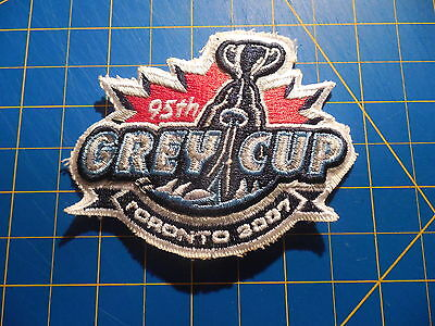 95th CFL Football Grey Cup Patch Toronto 2007