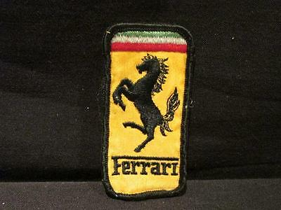 Ferrari Black Horse Rearing Embroidered Unused Patch Yellow Red White Green