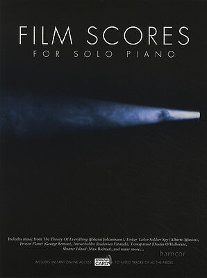 Film Scores for Solo Piano Sheet Music Book & DLC Audio Download Card