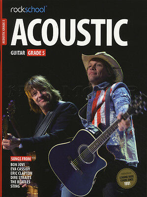 Rockschool Acoustic Guitar Grade 5 TAB Music Book with Audio Access Tests Exams