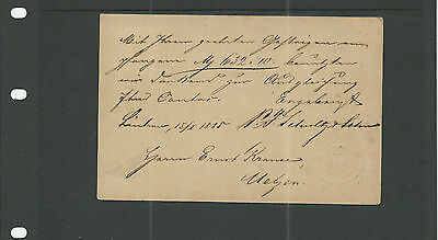 Trade Price Stamps Early German Postcard Luchow 1885  Cancellation