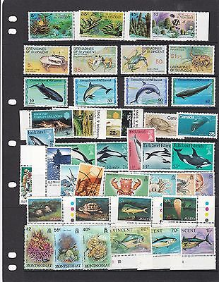 Fish And Sea Life   Stamps Mint Never Hinged  Huge Cat Value   R 2716