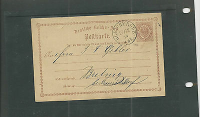 Trade Price Stamps Early German Postcard Bleicherode 1874  Post Mark