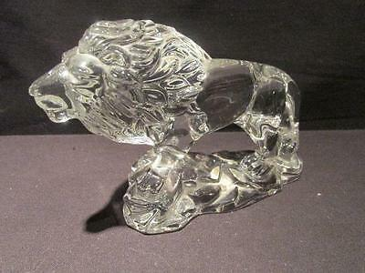 Princess House Wonders of the Wild 24% Lead Crystal Heavy Lion Figure