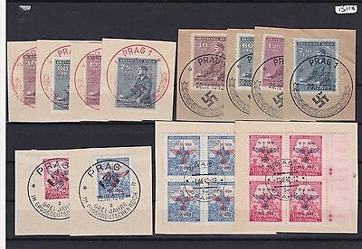 German Occupation Stamps With Prague Special Cancels Used Stamps    R2613