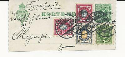 Trade Price Stamps Early Stamps Of Sweden Cancelled On Piece  Price £5
