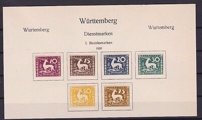 Wurttemberg   Stamps  R 2498