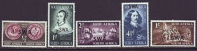 South West Africa 1952 SC 166-170 MH Set Ship