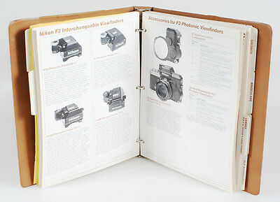 Rare Nikon Company Binder With Sales Info And Product Catalogue From 1979
