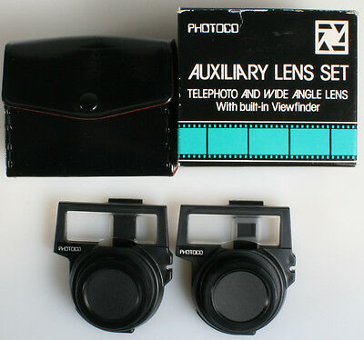 Telephoto And Wide Angle Lens Set With Viewfinder For Nikon One Touch
