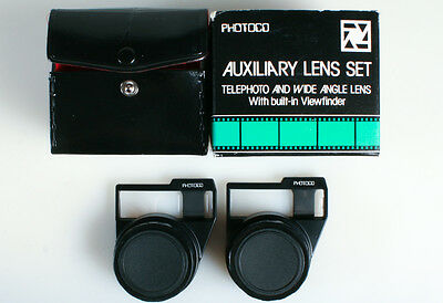 Auxilary Lens Set Telephoto And Wide Angle Lens With  Built In Viewfinder
