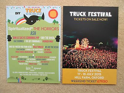 Truck festival flyers 2013-15 Spritualized - Ash - The Horrors - MINT