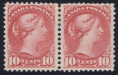 Canada 1889 SG 109 10c Salmon-Pink Fresh Mint Pair