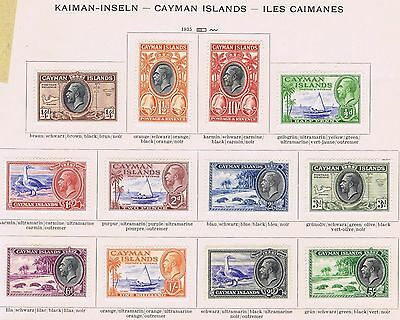 Cayman Islands 1935 SG 96-107 Very Fine Mounted Mint Pictorial Set 1/2d - 10/-