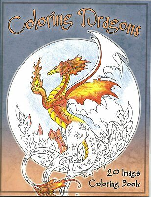Amy Brown Coloring Dragon Adult Coloring Book Art Dragons Mythical Fantasy Mans