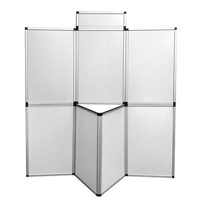 Portable Exhibition Folding Display Boards 6 Panels Stand Trade Show Displays