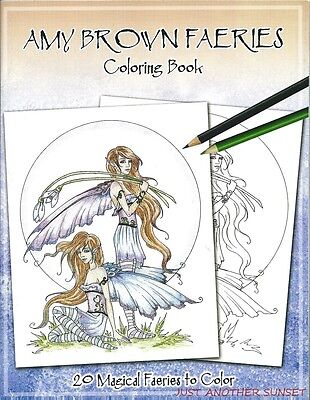 Amy Brown Magical Faeries Fairy Faery Coloring Book Art Dragons Mythical NEW