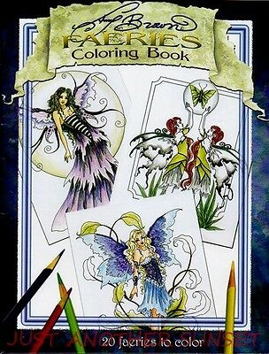 Amy Brown Faeries Coloring Book Fantasy Art Fairy Faery Flower Color Blue NEW