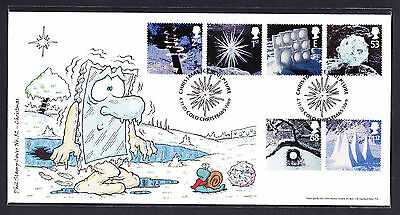 2003 GB Great Britain Phil Stamp First Day Cover FDC Christmas stamps 91 of 100