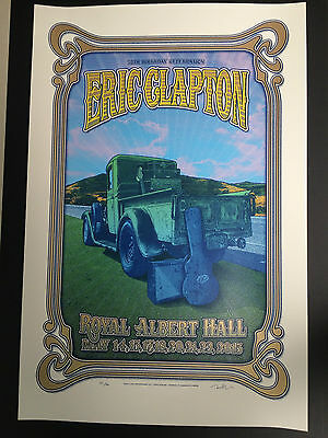 Eric Clapton 2015 Royal Albert Hall Poster Sold Out At Venue Limited Edition