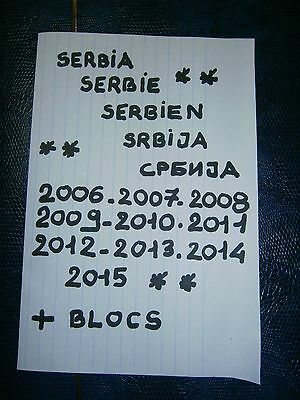 Gros Albums Collection Serbie Serbia Serbien 2006 A 2015 Neufs Luxe ** 45 Scans