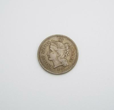 1867 3 Cent Nickle Three Cents United States