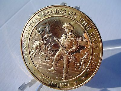 +1817 Erie Canal - Franklin Mint Commemorative Solid Bronze Medal