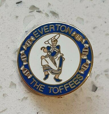 Everton Pin Badge - Toffee Lady - The Toffees - Blue and White