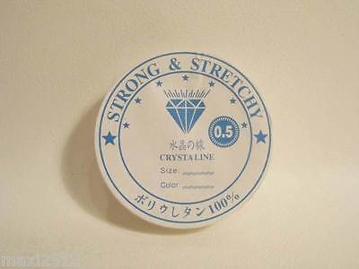 50m Reel x 0.5mm Clear Thread / Fishing Line: Ideal for stringing NOT STRETCHY