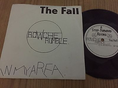 The Fall..rowche Rumble . Uk Issue P/sleeve Single Step Forward Records Sf 11