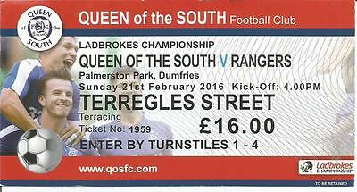 15/16 League February Queen of the South v Rangers