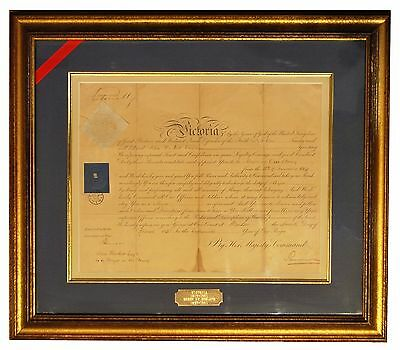 Queen Victoria Royal Warrant signed in 1854